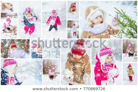 many photos with jumping families, collage           stock photo © Paha_L