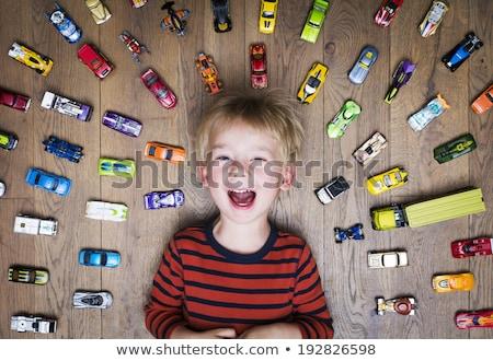 Erkek oyuncak araba çocuklar mutlu çocuklar Stok fotoğraf © Paha_L