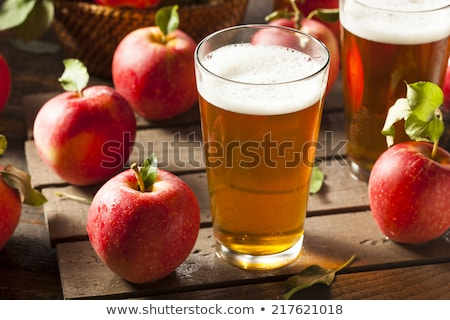 Apple cider beer in a glass Stock photo © stevanovicigor