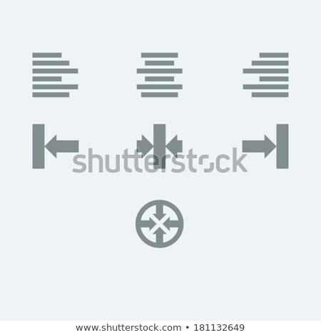 Szöveg helyes ikon felirat illusztráció iroda Stock fotó © kiddaikiddee