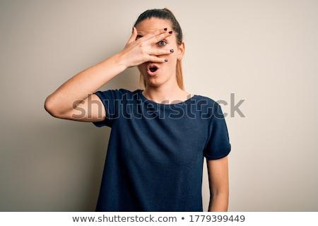 Megszégyenített fiatal nő nő vektor terv illusztráció Stock fotó © RAStudio