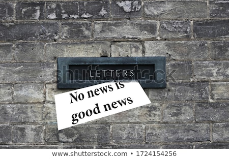 Good News and Home Sign Stock photo © devon