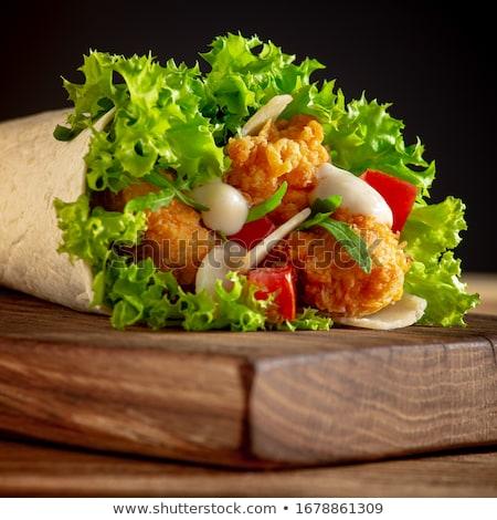 Sani insalata croccante pane legno Foto d'archivio © Digifoodstock