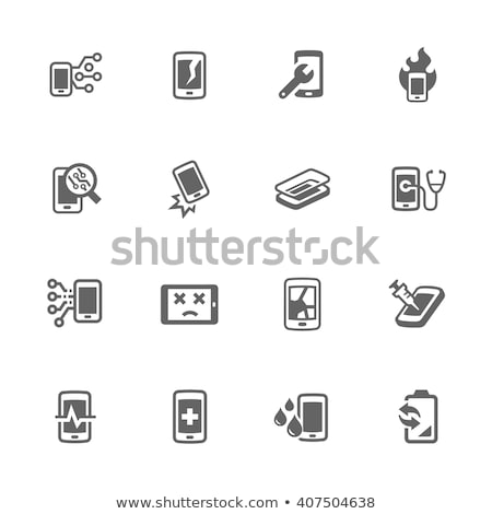 smart phone repair icon stock photo © djdarkflower