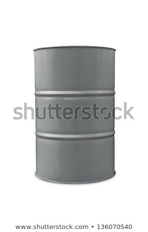 Szürke olaj hordó illusztráció fehér tudomány Stock fotó © bluering