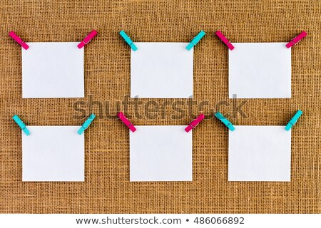 Six neatly aligned blank white notepads Stock photo © ozgur