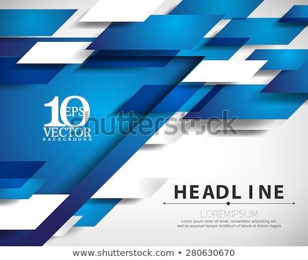 Kék fényes mozgás szórólap vektor grafikai tervezés Stock fotó © saicle