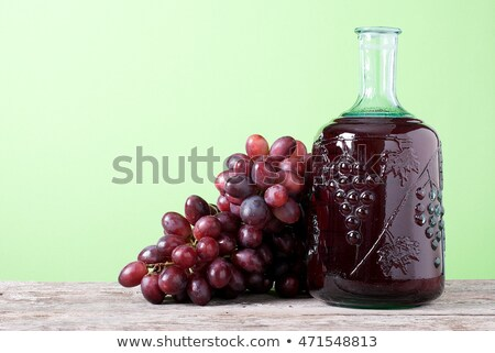 Eigengemaakt druivensap vruchten houten tafel vruchten fles Stockfoto © Lana_M