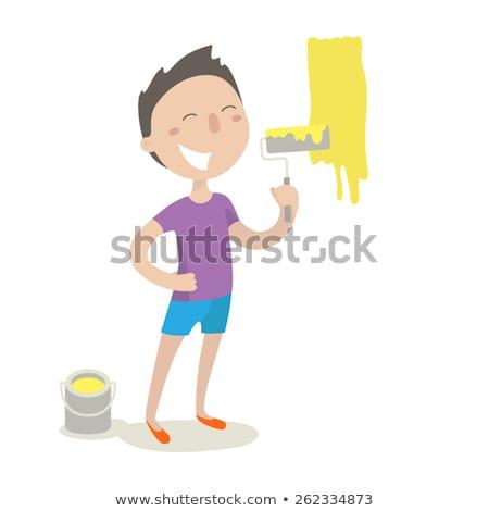 человека Живопись эскиз икона вектора изолированный Сток-фото © RAStudio