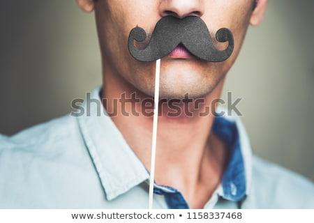 geek nerd guy with mustache stock photo © vector1st