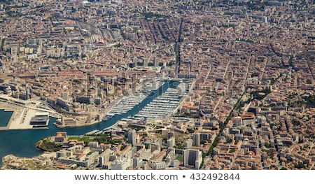 aerial view of Marseille in Midday light Stock photo © meinzahn