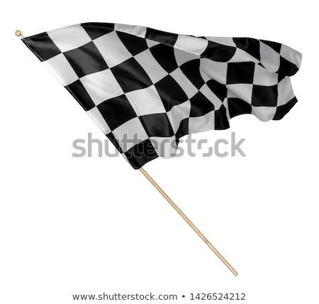 Racing bandiera nero polo illustrazione sport Foto d'archivio © bluering