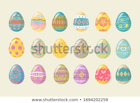 set of easter eggs eps 10 stock photo © beholdereye