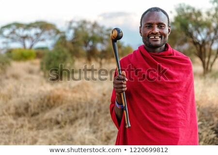 Tradycyjny mężczyzn ilustracja człowiek dżungli kultury Zdjęcia stock © adrenalina