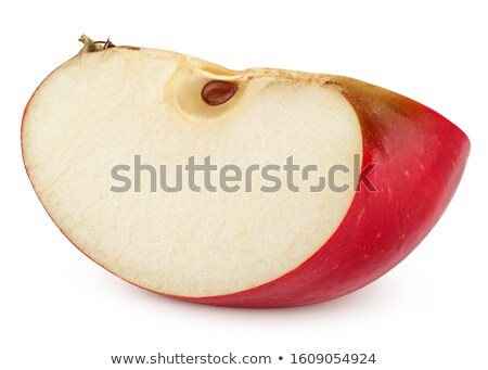 Bir bütün elma çeyrek meyve taze Stok fotoğraf © Digifoodstock