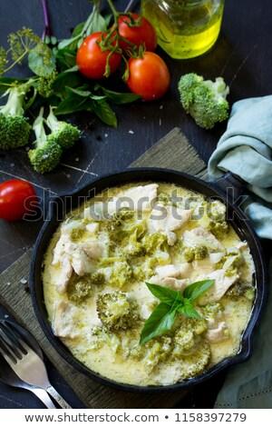 Krem akşam yemeği öğle yemeği yemek çanak gastronomi Stok fotoğraf © M-studio