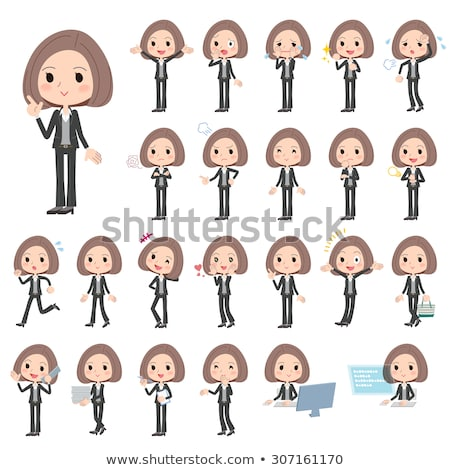 shop assistant woman character vector illustration stock photo © robuart