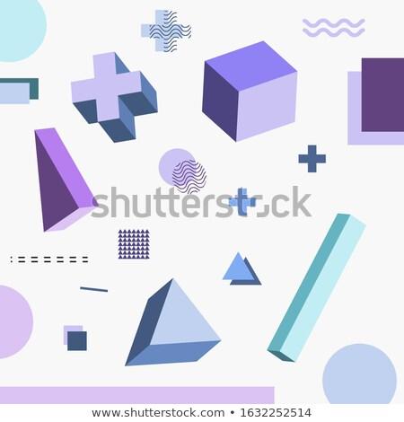 Kleuren tegels mozaiek stijl communie abstract Stockfoto © SArts