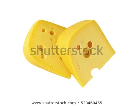 Klin żółty ser oczy biały Zdjęcia stock © Digifoodstock