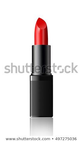 batom · vermelho · isolado · preto · fundo · beleza · cor - foto stock © kayros