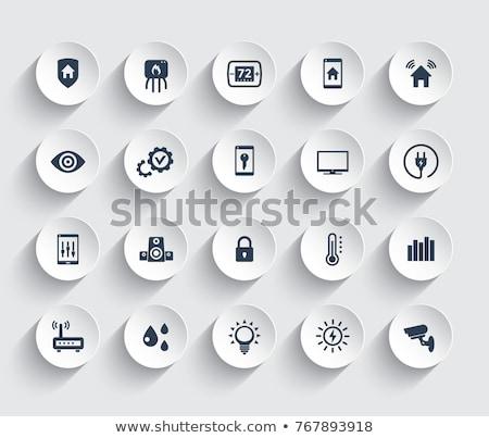 ホーム オートメーション テレビ アプリ インターフェース デジタル複合 ストックフォト © wavebreak_media