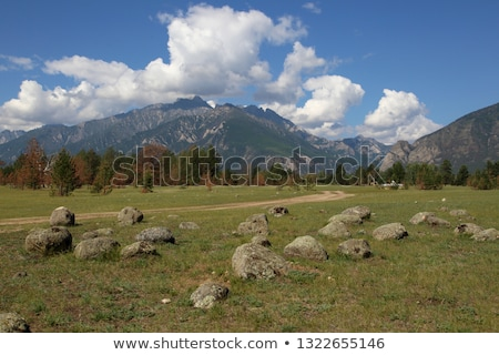 barguzin valley summer landscape russia stock photo © iserg