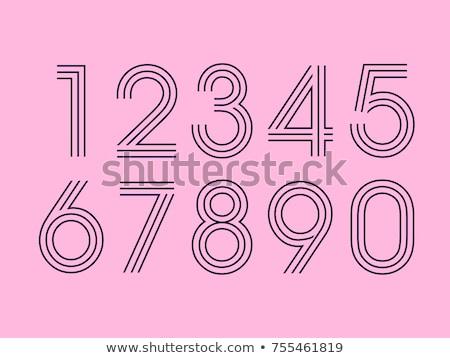 шрифт дизайна номера один нулевой иллюстрация Сток-фото © bluering