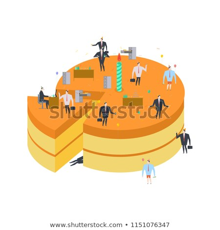 Businessman at party. Celebratory cap and Party horn. Manager dr Stock photo © MaryValery
