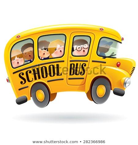 illustration · jaune · bus · scolaire · vecteur · style · icône - photo stock © curiosity