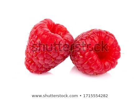 świeże czerwony maliny mięty pozostawia Zdjęcia stock © Digifoodstock
