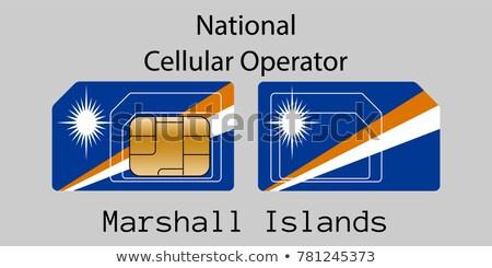 Szigetek mobil kezelő kártya zászló absztrakt Stock fotó © Leo_Edition