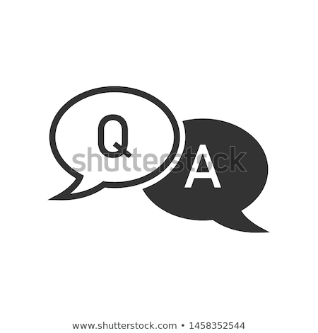 Icon Rood vragen antwoorden symbool iconen Stockfoto © Oakozhan