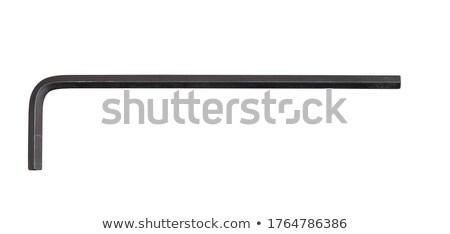 Clave metálico blanco fondo metal estudio Foto stock © make