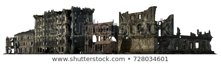 destruido · edificio · abandonado · industrial · distrito · casa - foto stock © tracer