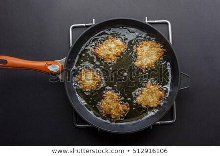 Frigideira batata óleo de girassol grande panela Foto stock © romvo