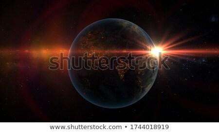 закат Оман пространстве красный земле орбита Сток-фото © Harlekino