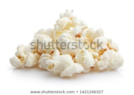 popcorn · hoop · geïsoleerd · witte · textuur · voedsel - stockfoto © digifoodstock
