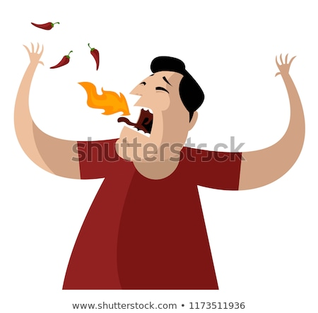 Eating Spicy Food Stock photo © Lightsource