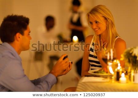 voedsel · restaurant · tabel · vork · vrouwelijke · persoon - stockfoto © wavebreak_media