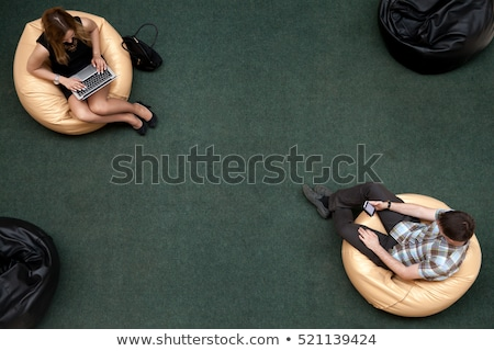 high angle view of friends using technologies stock photo © wavebreak_media