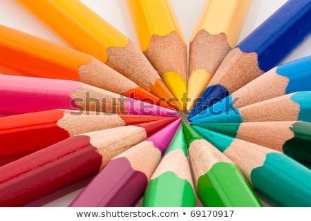 ceruzák · különböző · színek · fehér - stock fotó © mayboro1964