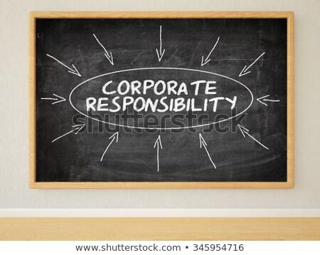 business ethics   text on black chalkboard 3d rendering stock photo © tashatuvango