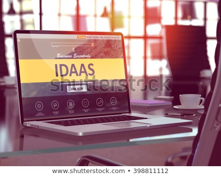 Laptop Screen with IDAAS Concept. Stock photo © tashatuvango