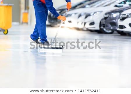 auto · dienst · personeel · schoonmaken · auto · borstel - stockfoto © wavebreak_media