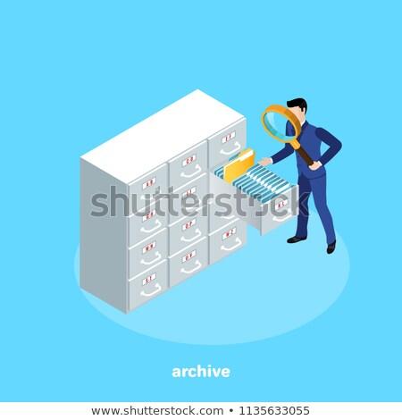 card index with equipment 3d stock photo © tashatuvango
