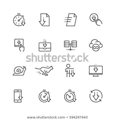 caixa · de · entrada · linha · ícone · vetor · isolado · branco - foto stock © rastudio