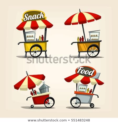Sokak gıda araba kahve yalıtılmış beyaz gıda Stok fotoğraf © konturvid
