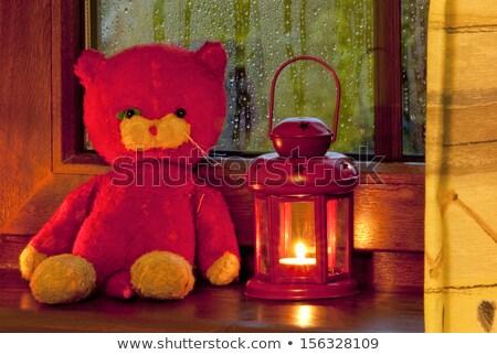 vintage · latarnia · christmas · wieniec · dekoracje - zdjęcia stock © stephaniefrey