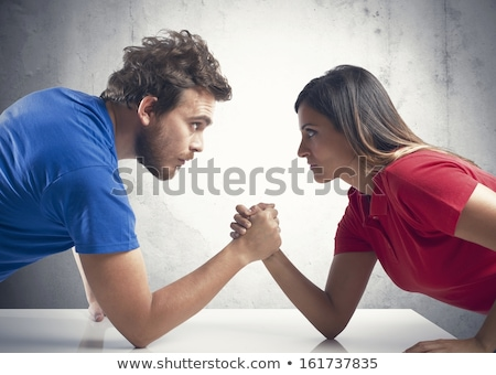 man and woman arm wrestle Stock photo © IS2