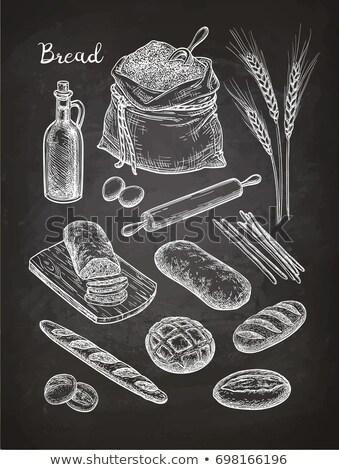 Sodrófa étel szakács zárt konyha sütemény Stock fotó © M-studio